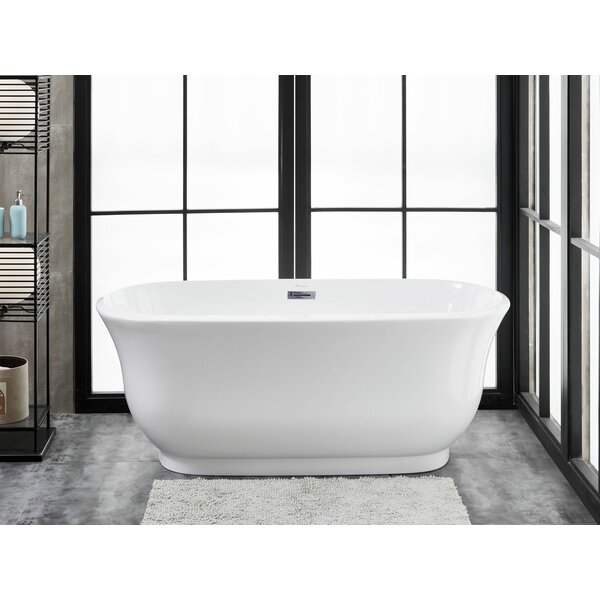 Julieta  67 L x 31 W Freestanding Soaking Bathtub by Finesse