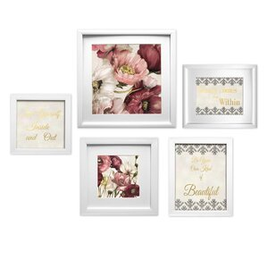 Beauty Collage 5 Piece Framed Graphic Art Set by Star Creations