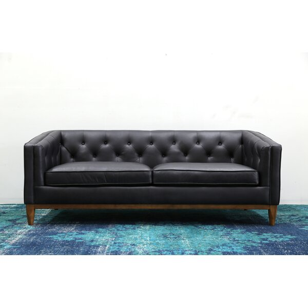 Singleton Leather Sofa by 17 Stories