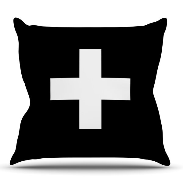 Plus by Trebam Outdoor Throw Pillow by East Urban Home