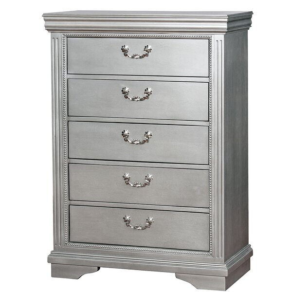 Lillie Traditional 5 Drawer Chest by Rosdorf Park