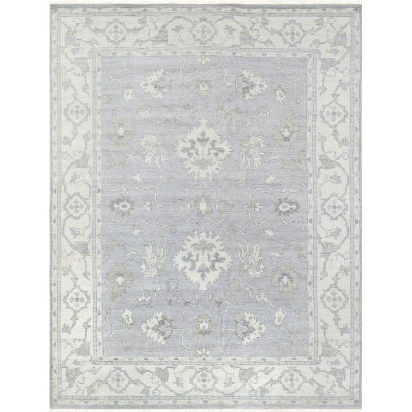 Oushak Hand-Knotted Gray Area Rug by Pasargad