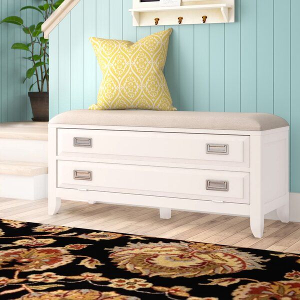 Poole Upholstered Storage Bench by Wrought Studio