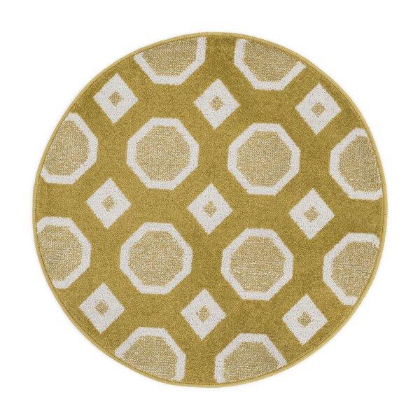 Laudenslager Citron/Ivory Area Rug by Ebern Designs