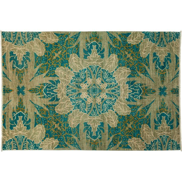 One-of-a-Kind Ziegler Hand-Knotted Green Area Rug by Darya Rugs