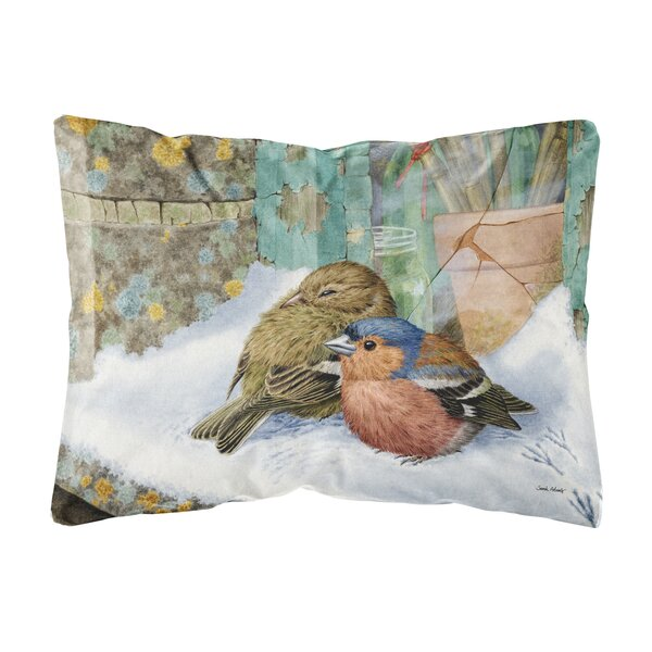 Shubert Alley Chaffinches Fabric Indoor/Outdoor Throw Pillow by Winston Porter