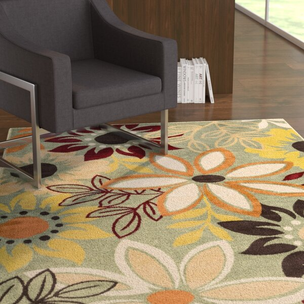 Muhammad Green Area Rug by Ebern Designs