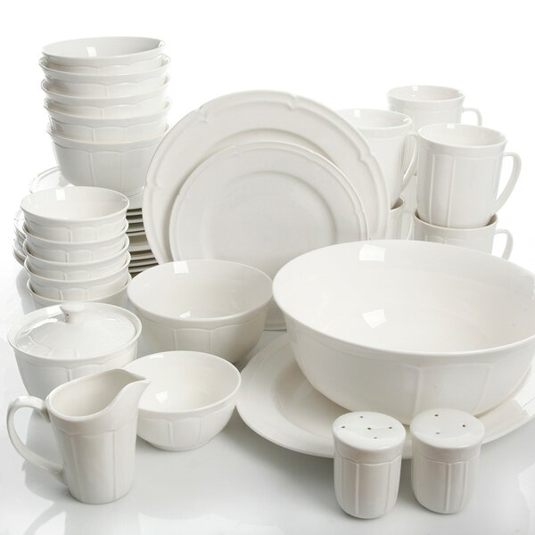 Kirton 37 Piece Dinnerware Set, Service for 6 by Red Barrel Studio