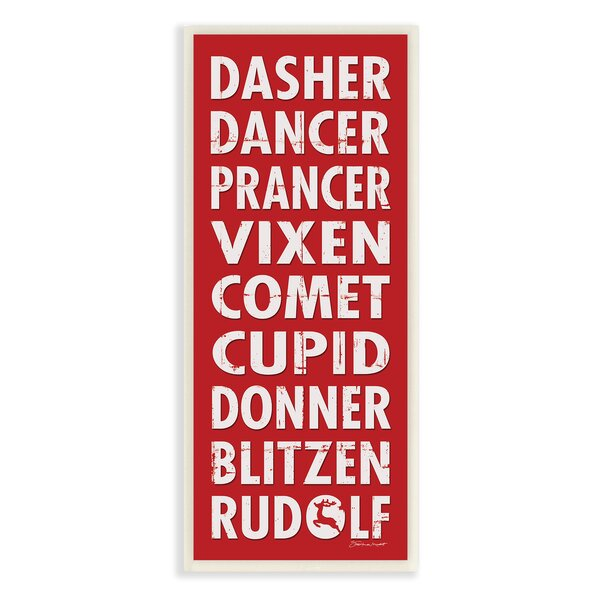 Reindeer Names Textual Art by Stupell Industries