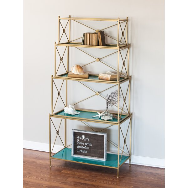 Hilal 4 Tiered Metal Etagere by Everly Quinn