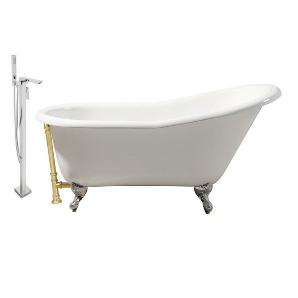 Cast Iron 60 x 30 Clawfoot Soaking Bathtub by Streamline Bath