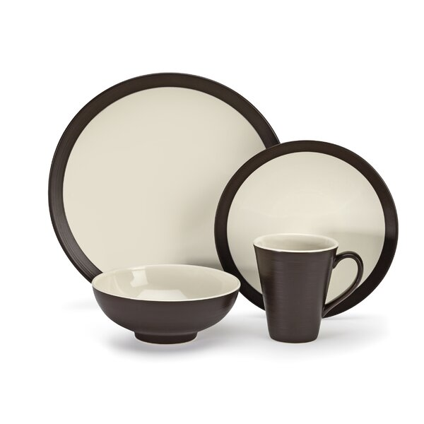 Bailee 16 Piece Dinnerware Set, Service for 4 by Cuisinart