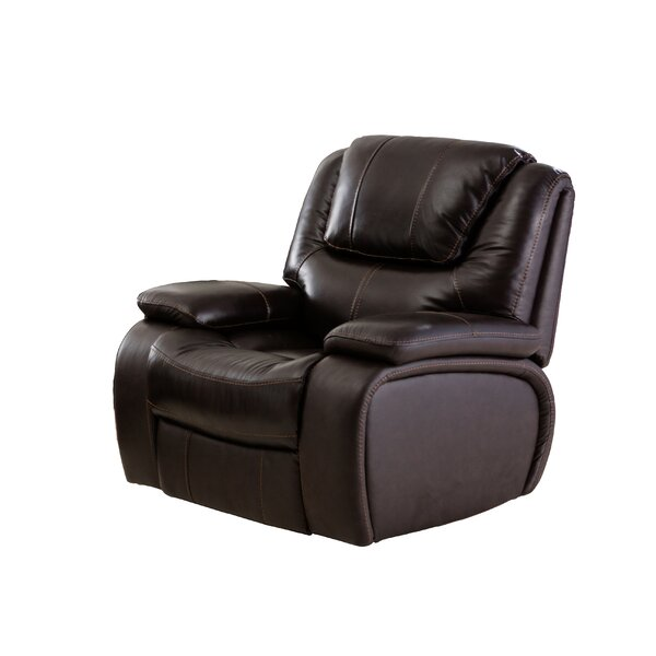 Hille Leather Manual Recliner by Red Barrel Studio