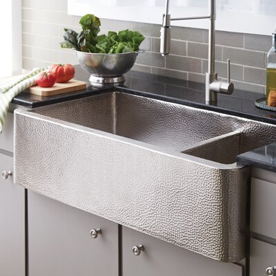 Native Trails Kitchen Sink Double Basin Brushed Nickel Kitchen Utility Sinks