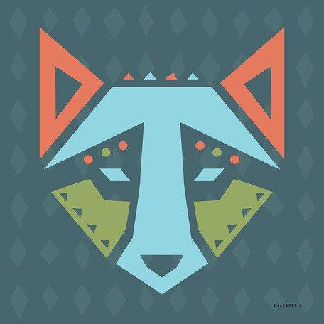 Geo Animals Wolf Canvas Art by Oopsy Daisy