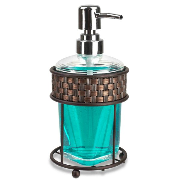 Craven Pattern Metal & Acrylic Bathroom Soap Dispenser by Bay Isle Home
