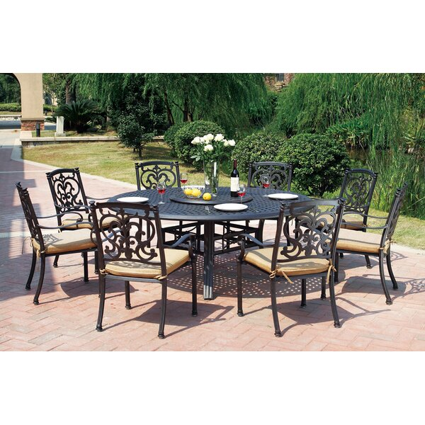 Batista 10 Piece Dining Set With Cushions by Fleur De Lis Living
