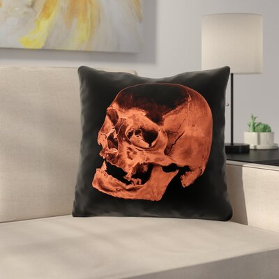 Skull Throw Pillow Skeleton Cushion