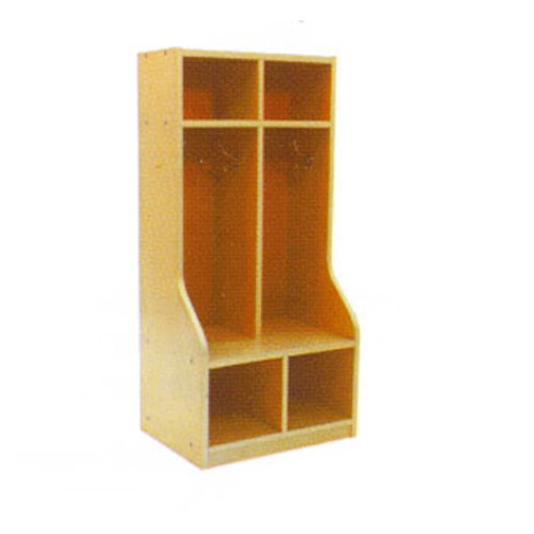 2 Section Coat Locker by A+ Child Supply