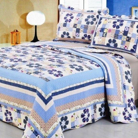 Joy Chic 3 Piece Reversible Quilt Set by Home Sensation