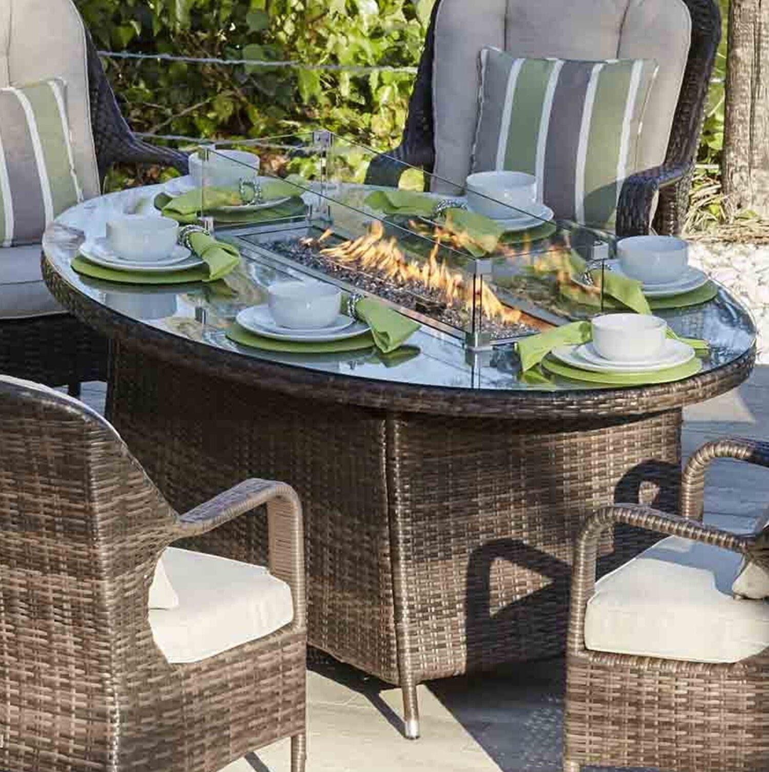Patio Aluminum Propane Fire Pit Table