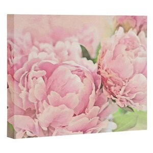 Pink Peonies Graphic Art on Canvas by House of Hampton