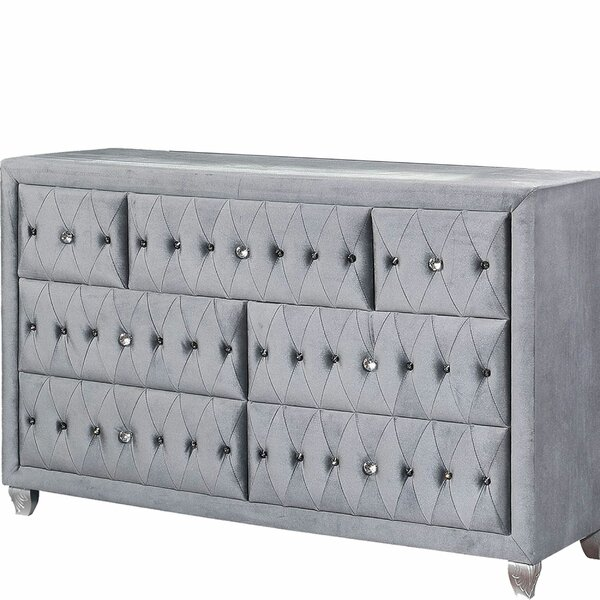 Cowie Wooden 7 Drawer Double Dresser by House of Hampton