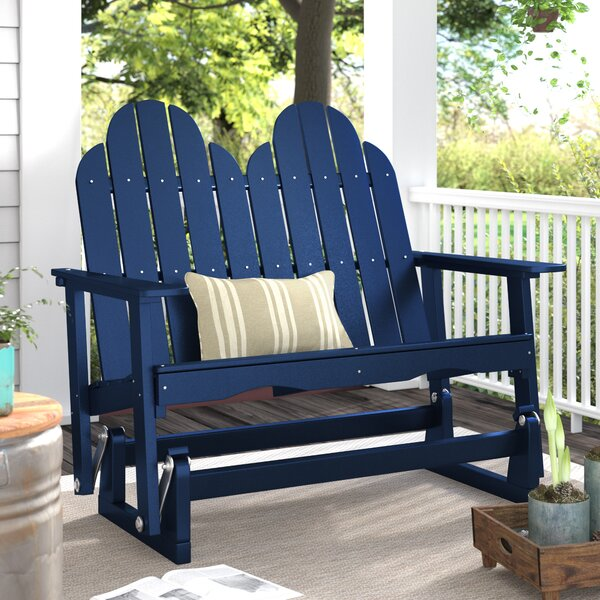 Sawyerville Adirondack Glider Bench by Laurel Foundry Modern Farmhouse