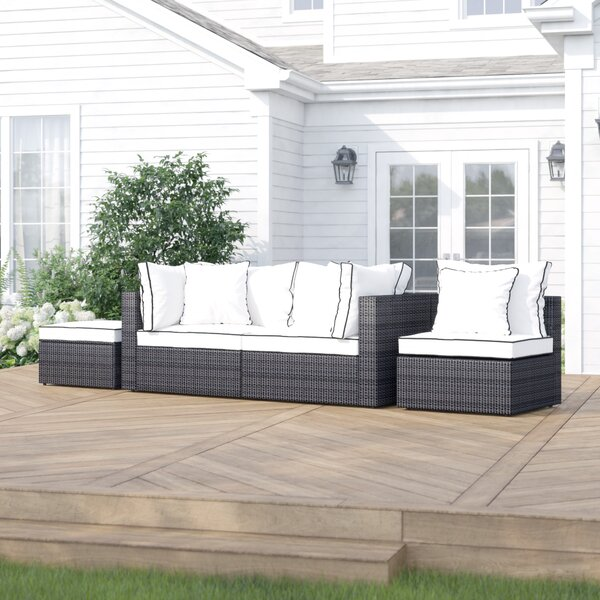 Burruss Patio Sectional with Cushions by Three Posts