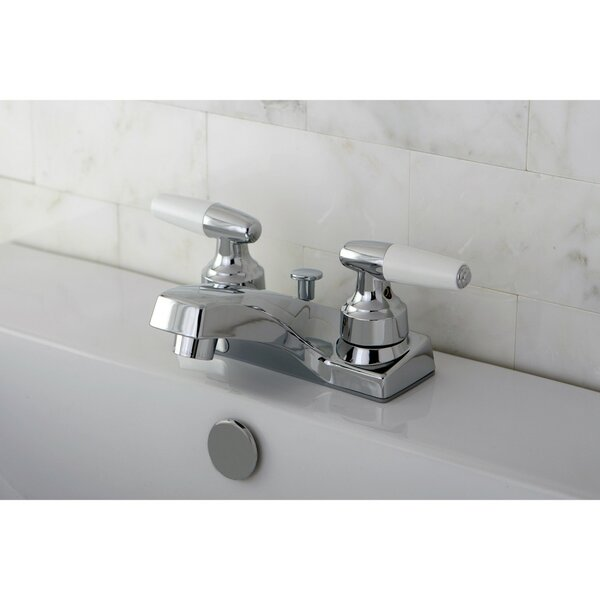 Centerset Bathroom Faucet With Drain Assembly By Kingston Brass