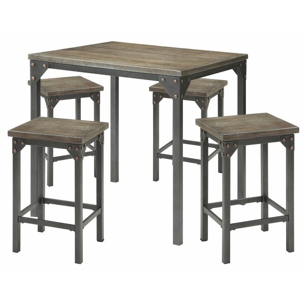 Pippa 5 Piece Counter Height Dining Set by Williston Forge Williston Forge