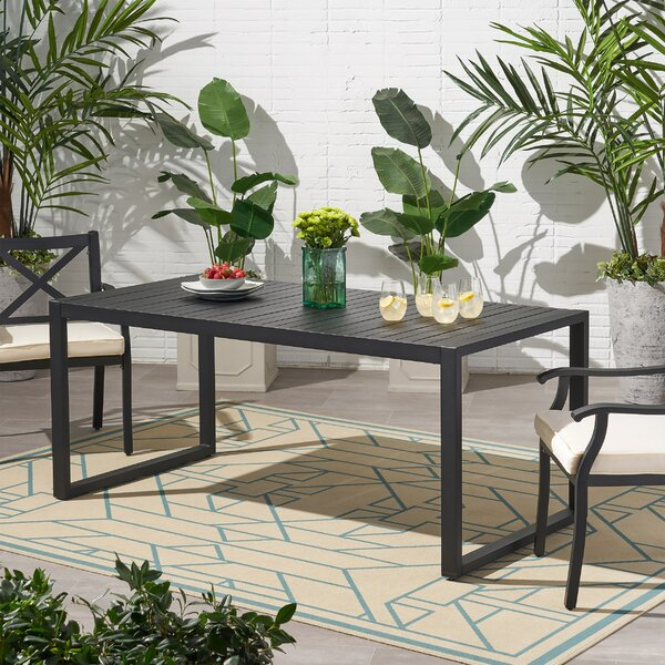Jaren Aluminum Dining Table by Wrought Studio