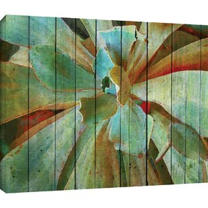 'Summer Succulent' Painting Print on Wrapped Canvas by Beachcrest Home