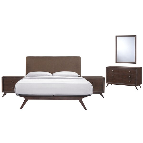 Modesto Queen Platform 5 Piece Bedroom Set by Langley Street