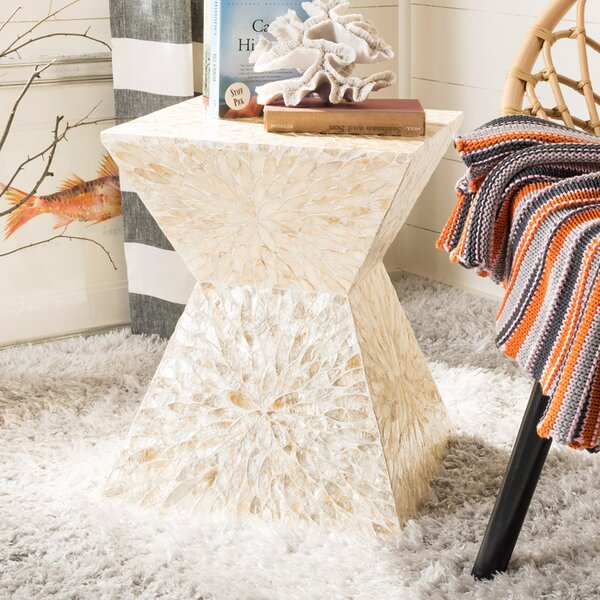 Hinrichs Sunburst Mosaic Accent Stool by Highland Dunes