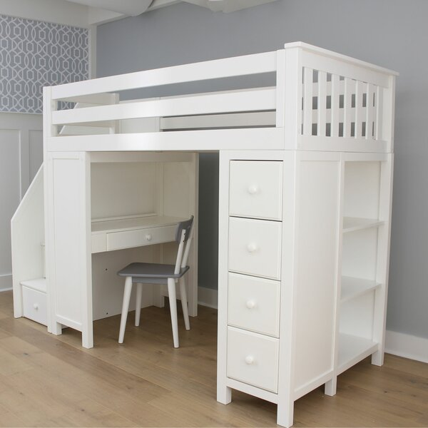 Deshotel Staircase Combo Twin Loft Bed by Harriet Bee