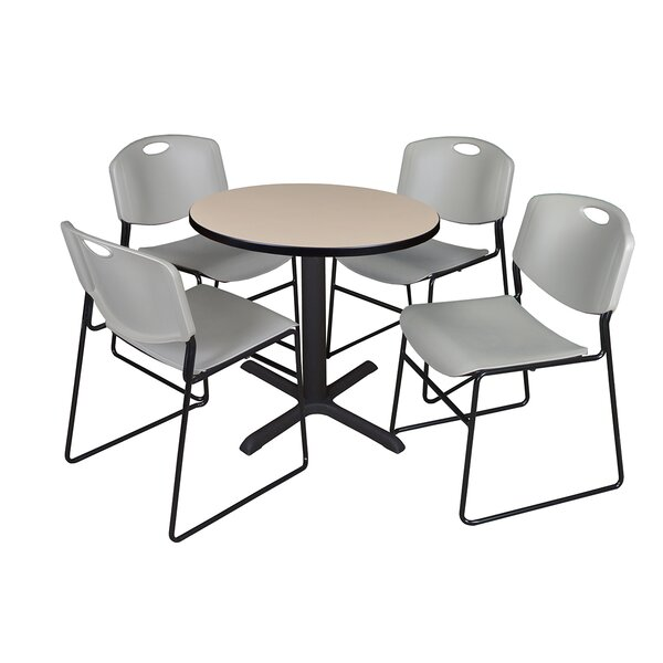 Hendrix 5 Piece 30 Square Breakroom Table and Chair Set by Symple Stuff