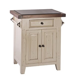 Lavedan Kitchen Cart with Granite Top by August Grove