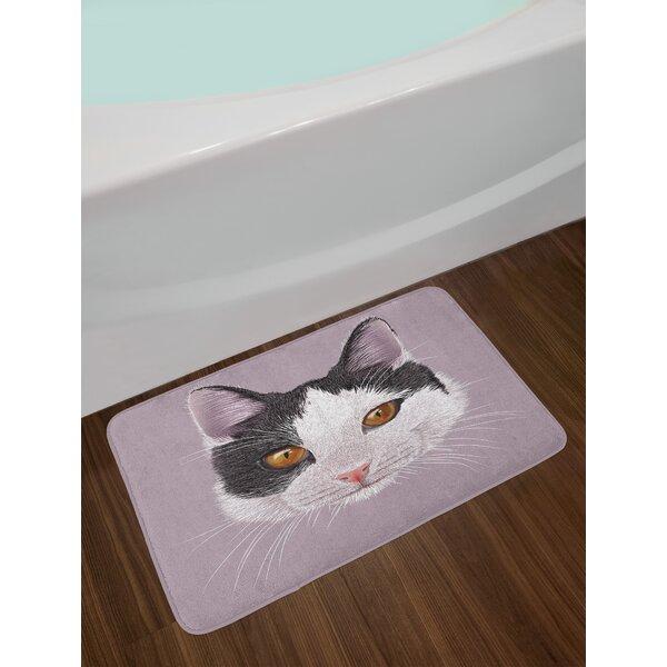 Cute Lilac Animal Bath Rug by East Urban Home