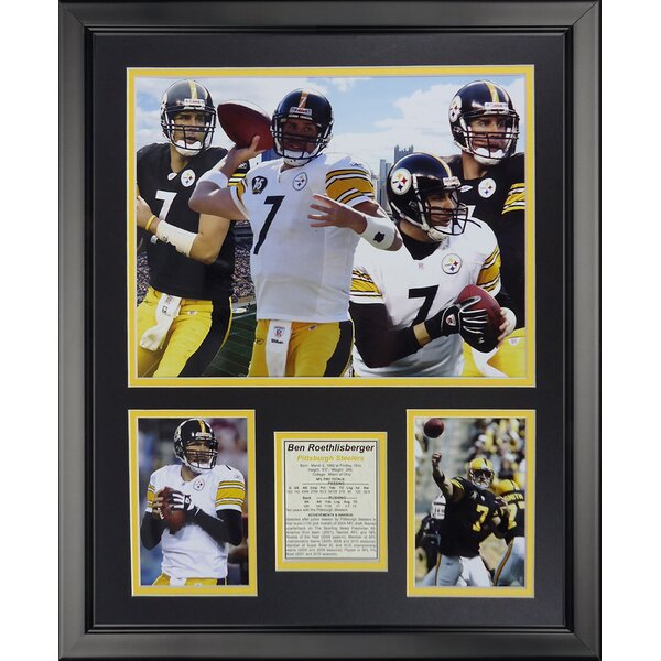 NFL Pittsburgh Steelers - Roethlisberger Collage Framed Memorabili by Legends Never Die