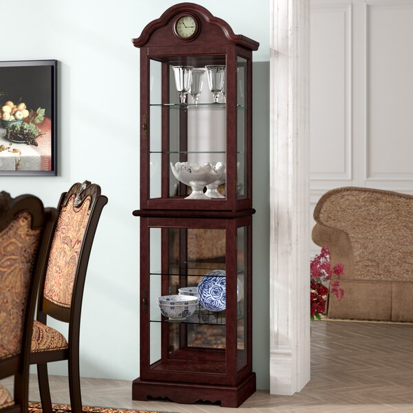 Inglaterra Lighted Curio Cabinet by Astoria Grand