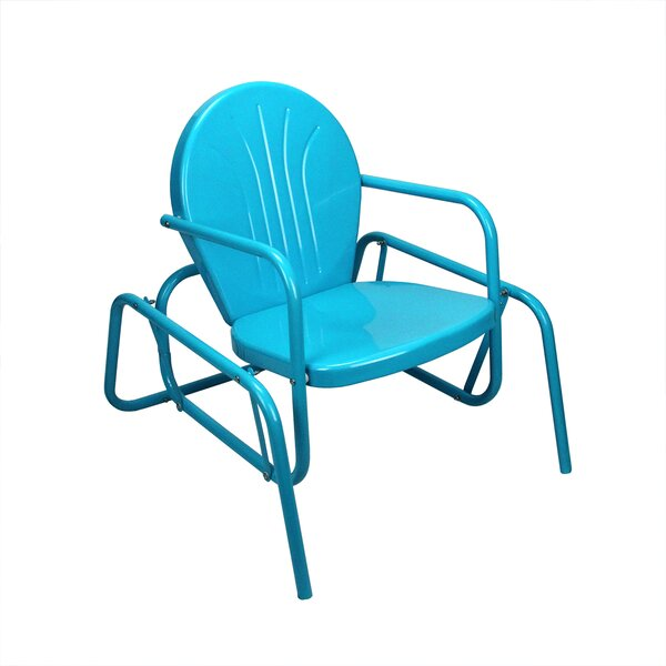 Retro Metal Tulip Outdoor Single Glider by LB International