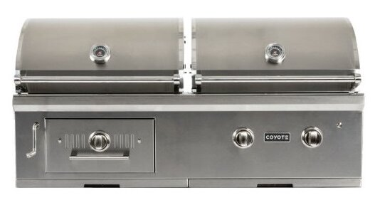2-Burner Built-In Gas and Charcoal Grill by Coyote Grills