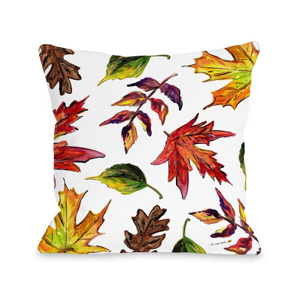 Roncy Fall Leaves Throw Pillow by Gracie Oaks