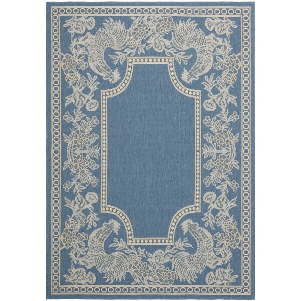Wysocki Blue/Natural Indoor/Outdoor Rug by August Grove