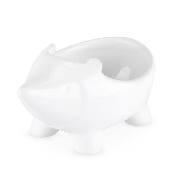 Hedgehog Ceramic Statue Planter by TrueZOO