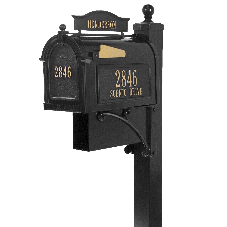 Vintage Metal Tin Mailbox US Mail Post Box Bronze Painted Steel Wedding Card Gift Holder Vintage Decor Manufactured by Gibraltar Industries
