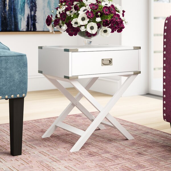 Marotta 1 Drawer End Table by Mercury Row
