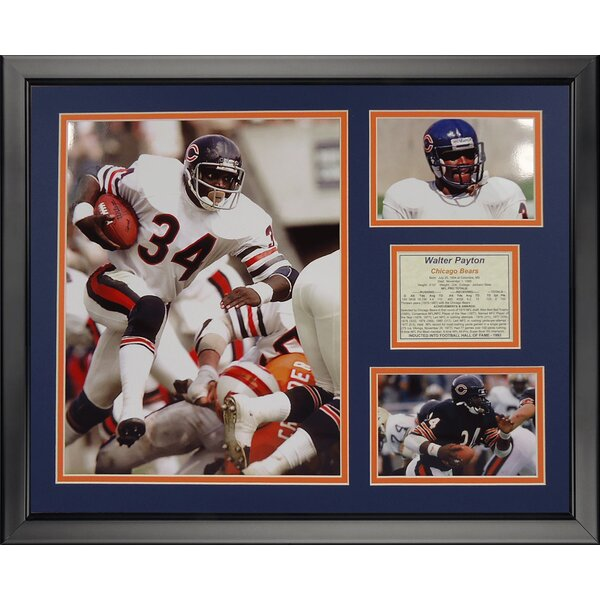 NFL Chicago Bears - Walter Payton Framed Memorabili by Legends Never Die