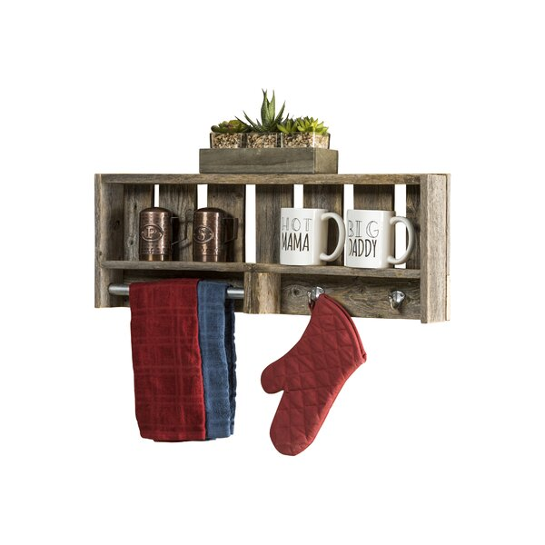 Rabiya Reclaimed Wood Versatile Accent Shelf by Gr